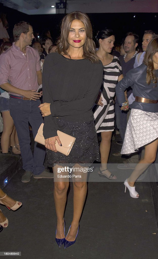 Maria Jose Suarez attends a fashion show during the Mercedes Benz Fashion Week Madrid Spring/Summer 2014 on September 13, 2013 in Madrid, Spain.