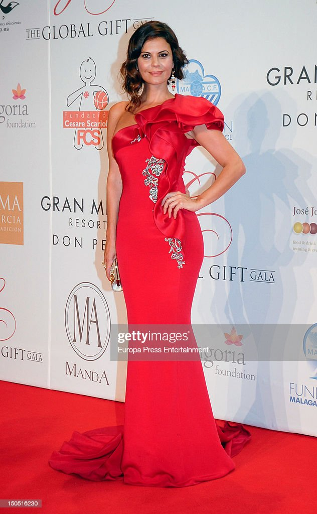 Maria Jose Suarez attends the Global Gift Gala 2012 a party held by Cesare Scariolo Foundation and Eva Longoria Foundation to raise money for...