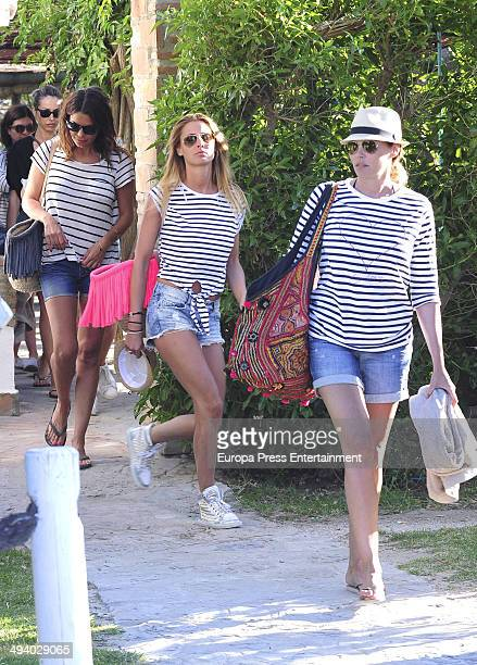 Maria Jose Suarez Elisabeth Reyes and Raquel Rodriguez are seen celebrating Elisabeth Reyes's hen party on May 26 2014 in Marbella Spain