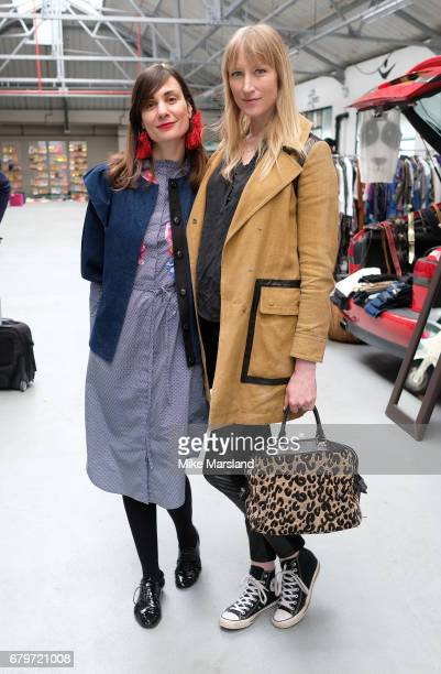 Maria Kastani and Jade Parfitt attend the Women for Women International #SheInspiresMe car boot sale at Brewer Street Car Park on May 6 2017 in...