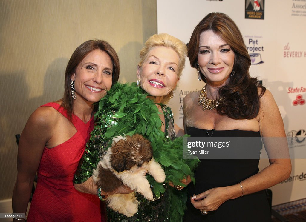 Maria Kessel, Lois Pope, Delilah and <a gi-track='captionPersonalityLinkClicked' href=/galleries/search?phrase=Lisa+Vanderpump&family=editorial&specificpeople=6834933 ng-click='$event.stopPropagation()'>Lisa Vanderpump</a> pose during the American Humane Association Hero Dog Awards 2013 held at the Beverly Hilton Hotel on Saturday, Oct. 5, 2013, in Beverly Hills, California.
