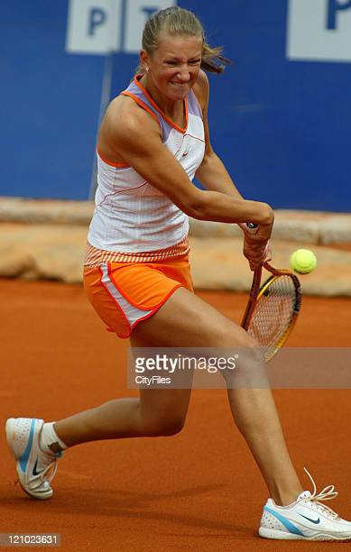 Maria Kirilenko in action during at the Tennis Estoril Open 2007 in Estoril Portugal on May 3 2007