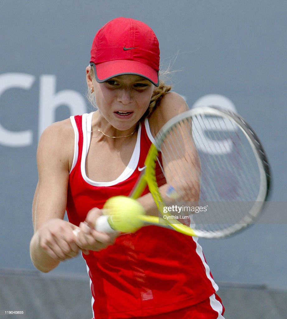 <a gi-track='captionPersonalityLinkClicked' href=/galleries/search?phrase=Maria+Kirilenko&family=editorial&specificpeople=211512 ng-click='$event.stopPropagation()'>Maria Kirilenko</a>, the sixteen year-old who won the Junior Open last year, came through the qualifying rounds to make her main debut at the 2003 US Open in Queens, New York on August 27, 2003. Kirilenko won in three sets 3-6, 7-6, 7-5.