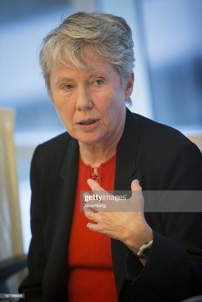 Maria Klawe, president of Harvey Mudd University, speaks during an interview in New York, U.S., on Thursday, Dec. 6, 2012. After earning her bachelor's and doctoral degrees in math at the University of Alberta, she began a career in academia and helped build the computer science program at the University of British Columbia in Vancouver. She left for Princeton in 2003. Photographer: Scott Eells/Bloomberg via Getty Images