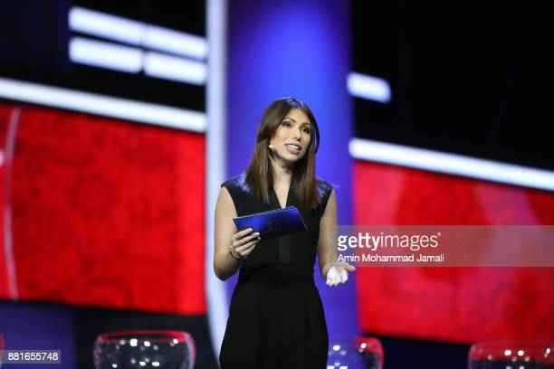 Maria Komandnaya looks on during the Behind the Scenes of the Final Draw for the 2018 FIFA World Cup at the Draw hall on November 29 2017 in Moscow...