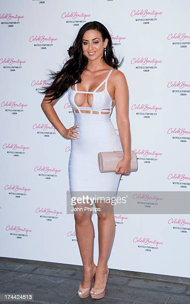Maria Kouka attends the store launch party at CelebBoutique Westfield Stratford City on July 25 2013 in London England
