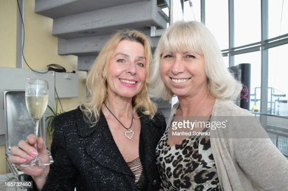 Maria Lahr and Simona Katzlinger pose during a press conference for ...