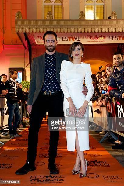 Maria Leon and Jon Plazaola attend 'Alli Abajo' premiere during FesTVal Murcia 2015 on March 25 2015 in Murcia Spain