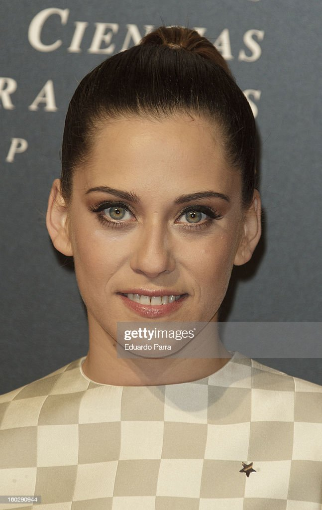 Maria Leon attends Goya awards final candidates party photocall at El Canal theatre on January 28, 2013 in Madrid, Spain.