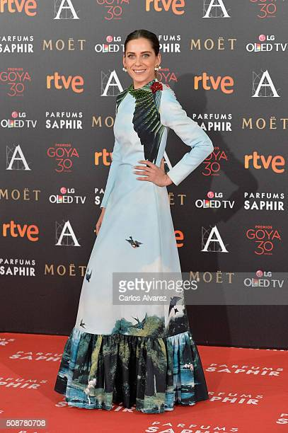 Maria Leon attends Goya Cinema Awards 2016 at Madrid Marriott Auditorium on February 6 2016 in Madrid Spain