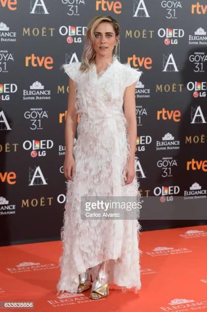 Maria Leon attends Goya Cinema Awards 2017 at Madrid Marriott Auditorium on February 4 2017 in Madrid Spain
