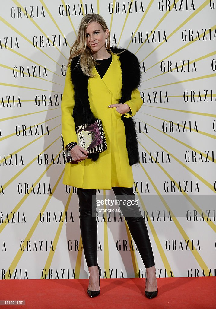 Maria Leon attends Grazia Magazine launch party at the Circo Prize Theater on February 12 2013 in Madrid Spain