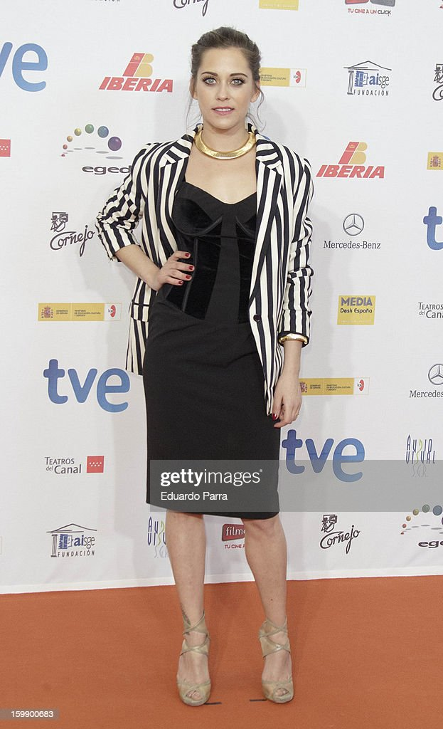 Maria Leon attends Jose Maria Forque awards photocall at Canal theatre on January 22, 2013 in Madrid, Spain.