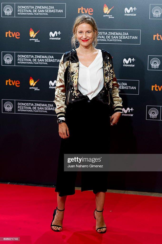 Maria Leon attends 'La Fille De Brest' premiere during 64th San Sebastian Film Festival at Kursaal on September 16, 2016 in San Sebastian, Spain.