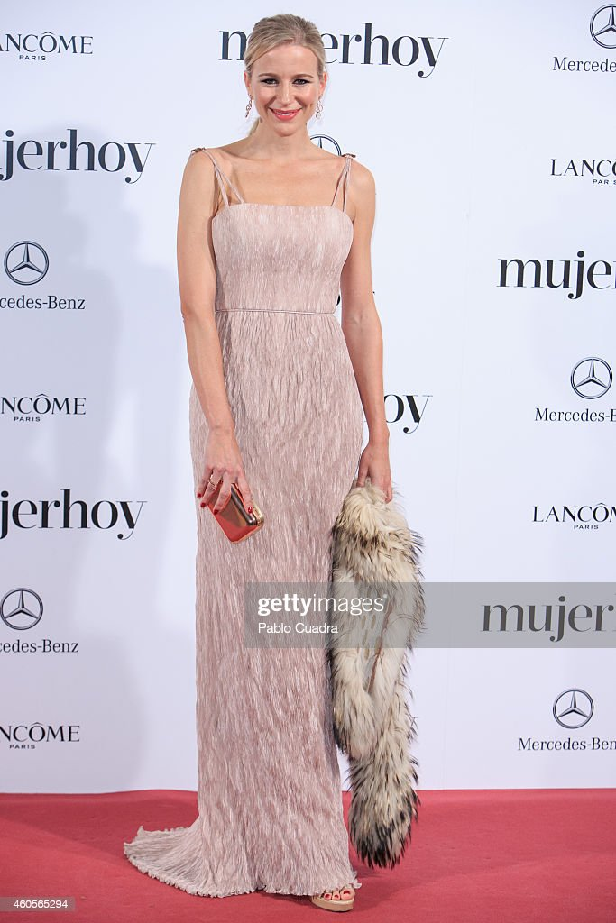 Maria Leon attends 'Mujer Hoy' awards gala at Palace Hotel on December 16 2014 in Madrid Spain