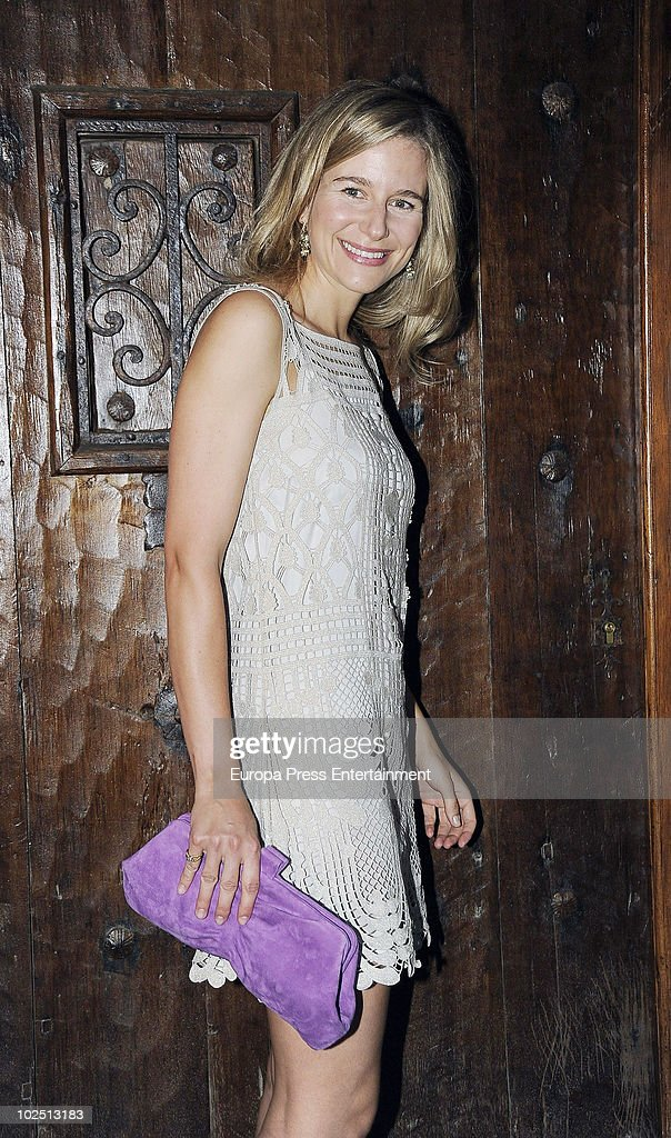 Maria Leon attends the christening of Paloma Segrelles and Emilio Alvarez's daughters Paloma and Tiziana on June 28 2010 in Madrid Spain