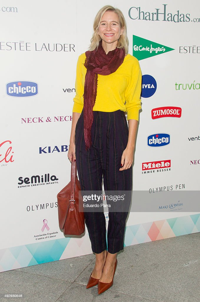 Maria Leon attends The Petite Fashion Week photocall at Madrid City Hall on October 16, 2015 in Madrid, Spain.