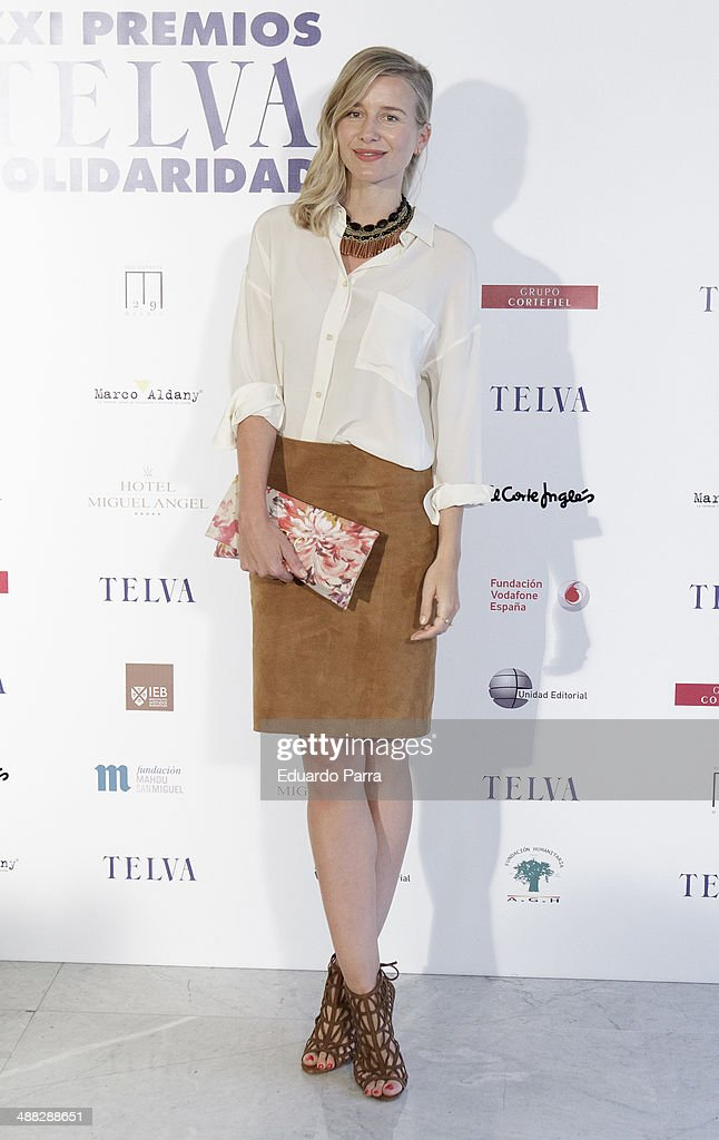 Maria Leon attends the 'Telva solidarity awards' photocall at Miguel Angel hotel on May 5, 2014 in Madrid, Spain.