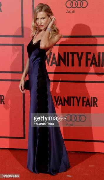 Maria Leon attends Vanity Fair 5th anniversary party photocall at Santa Coloma palace on October 10 2013 in Madrid Spain