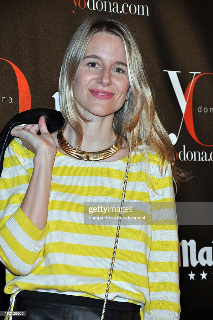 Maria Leon attends 'Yo Dona' magazine mask party on February 18, 2013 in Madrid, Spain.