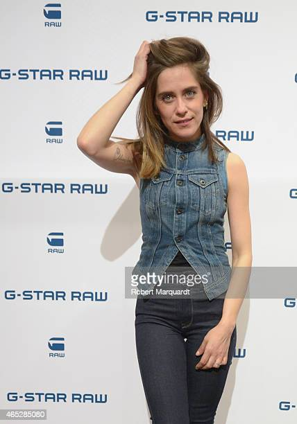 Maria Leon poses during a photocall for the opening of 'GStar RAW' flagship store on March 5 2015 in Barcelona Spain