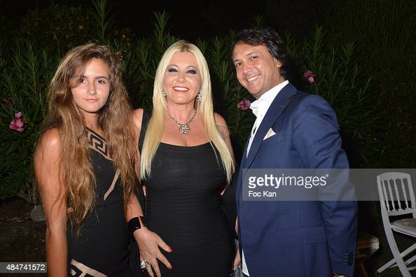 Maria Luisa Bacardi Monika Bacardi and David Kane attend the Massimo Gargia Birthday Party at Les Moulins De Ramatuelle on August 20 2015 in...
