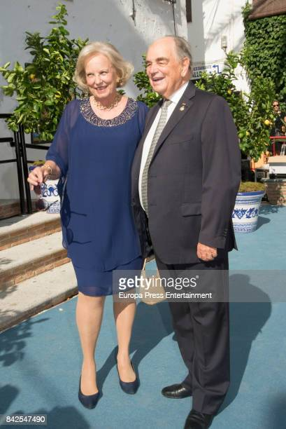 Maria Luisa of Prusia are seen attending the wedding of MarieGabrielle of Nassau and Antonius Willms on September 2 2017 in Marbella Spain