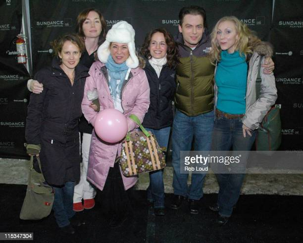Maria Maggenti director third from left and Elizabeth Reaser and Justin Kirk with guests