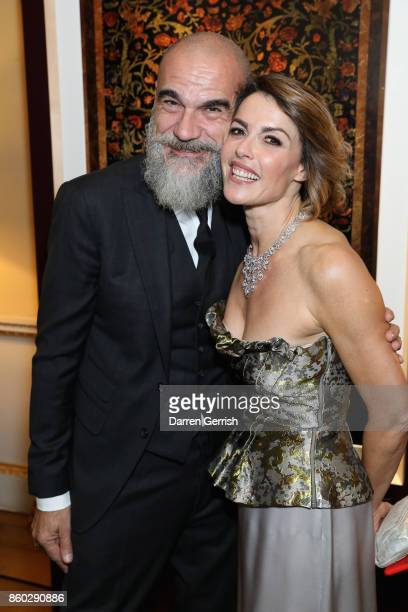 Maria Mantero and Giampiero Bodino attend Giampiero Bodino's 'Beauty Is My Favourite Colour' cocktails and dinner evening at Spencer House on October...