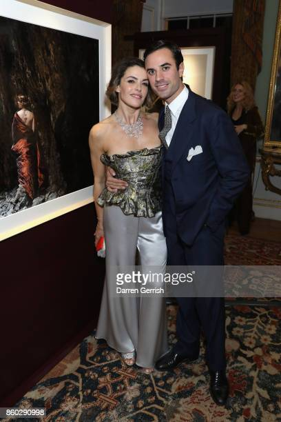 Maria Mantero and Guido Taroni attend Giampiero Bodino's 'Beauty Is My Favourite Colour' cocktails and dinner evening at Spencer House on October 11...