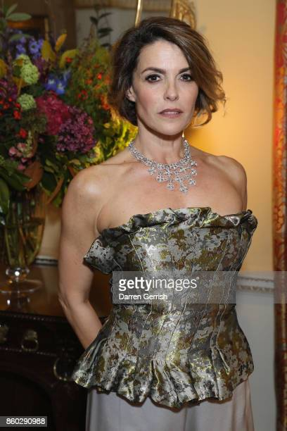 Maria Mantero attends Giampiero Bodino's 'Beauty Is My Favourite Colour' cocktails and dinner evening at Spencer House on October 11 2017 in London...