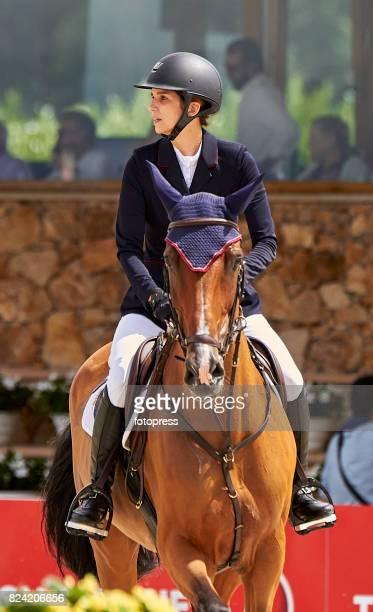 Maria Margarita Vargas attends during CSI Casas Novas Horse Jumping Competition on July 29 2017 in A Coruna Spain