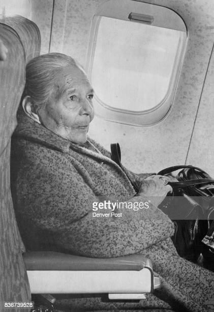 Maria Martinez waits in her seat aboard an airplane for takeoff and her longawaited trip home to Mexico Mrs Martinez left Denver Wednesday afternoon...