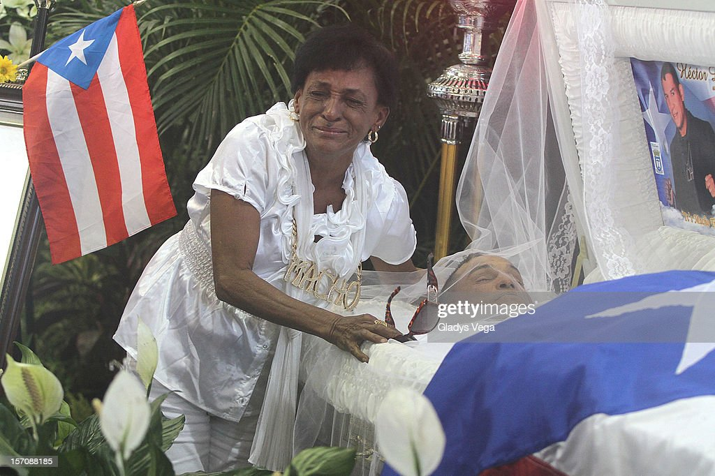 Maria Matias weeps for her late son Hector 'Macho' Camacho in a public memorial service at Department of Sports and Recreation on November 28, 2012 in San Juan, Puerto Rico. Camacho died after being removed from life support following a November 20, 2012 shooting in Bayamon, Puerto Rico.