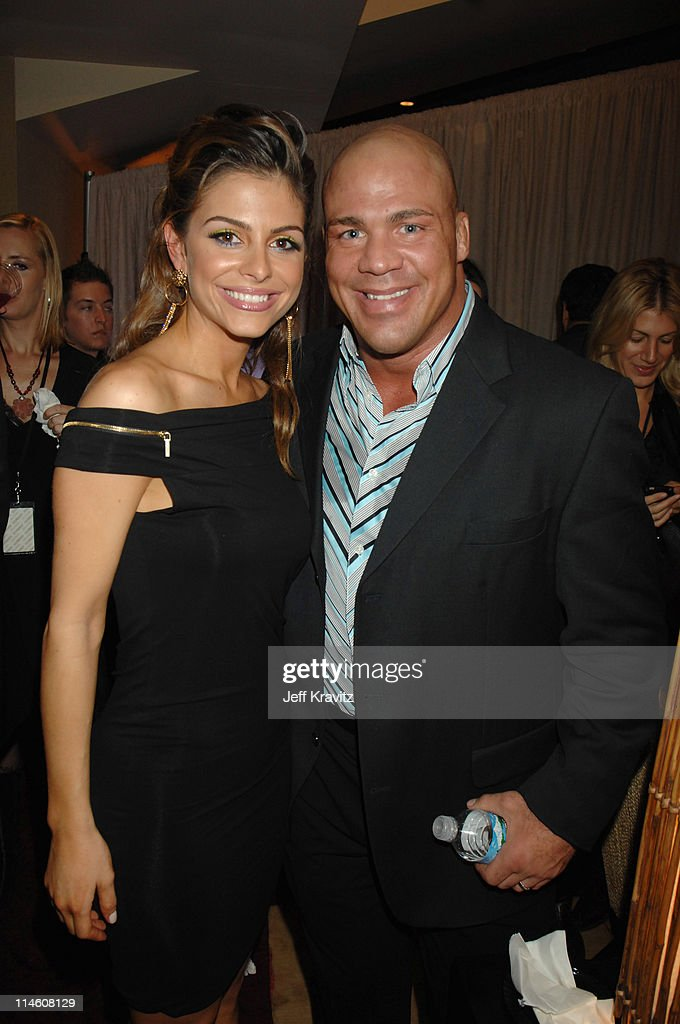 <a gi-track='captionPersonalityLinkClicked' href=/galleries/search?phrase=Maria+Menounos&family=editorial&specificpeople=203337 ng-click='$event.stopPropagation()'>Maria Menounos</a> and <a gi-track='captionPersonalityLinkClicked' href=/galleries/search?phrase=Kurt+Angle&family=editorial&specificpeople=644134 ng-click='$event.stopPropagation()'>Kurt Angle</a> during Spike TV's 2006 Video Game Awards Hosted By Samuel L. Jackson - Backstage and Audience at The Galen Center in Los Angeles, California, United States.