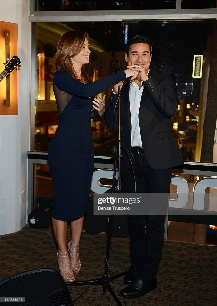 Maria Menounos and Mario Lopez during the Have A Heart benefit for organ donor recipients and their families at Mixology LA at the Farmers Market on February 21, 2013 in Los Angeles, California.