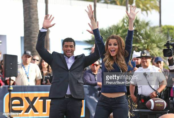 Maria Menounos and Russell Wilson are seen on November 19 2013 in Los Angeles California