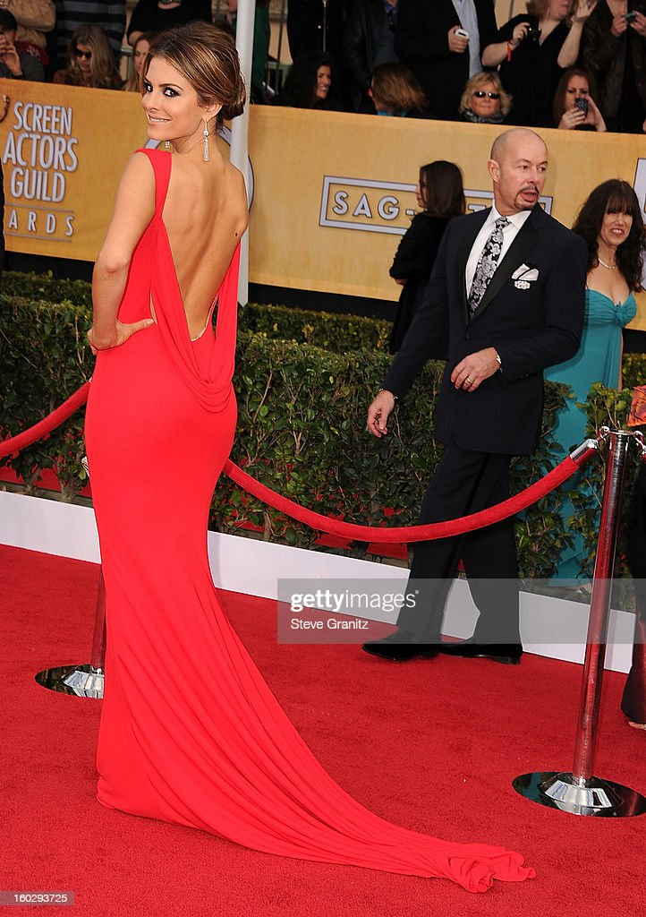 Maria Menounos arrives at the 19th Annual Screen Actors Guild Awards at The Shrine Auditorium on January 27 2013 in Los Angeles California