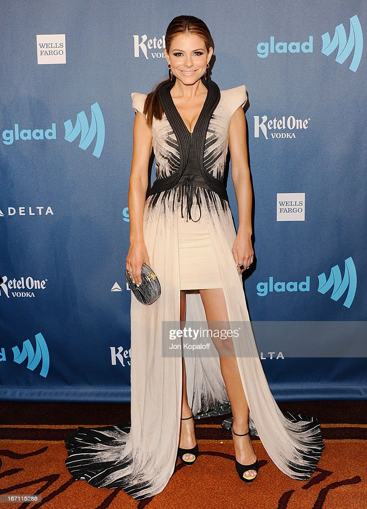 Maria Menounos arrives at the 24th Annual GLAAD Media Awards at JW Marriott Los Angeles at L.A. LIVE on April 20, 2013 in Los Angeles, California.