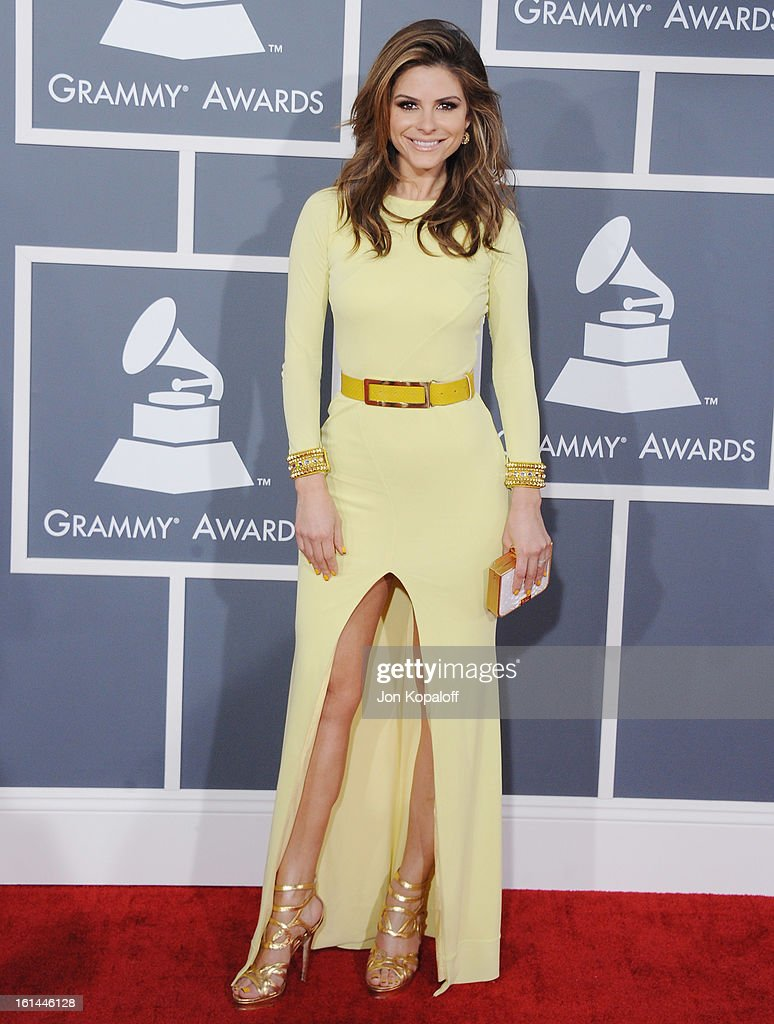 Maria Menounos arrives at The 55th Annual GRAMMY Awards at Staples Center on February 10, 2013 in Los Angeles, California.