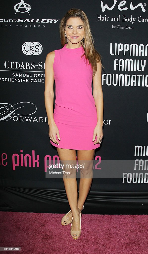 Maria Menounos arrives at the 8th Annual Pink Party held at Hangar 8 on October 27, 2012 in Santa Monica, California.