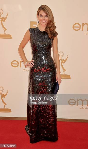 Maria Menounos arrives at the Academy of Television Arts Sciences 63rd Primetime Emmy Awards at Nokia Theatre LA Live on September 18 2011 in Los...