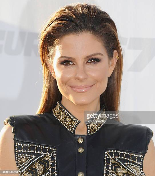 Maria Menounos arrives at the Los Angeles Premiere 'Furious 7' at TCL Chinese Theatre IMAX on April 1 2015 in Hollywood California