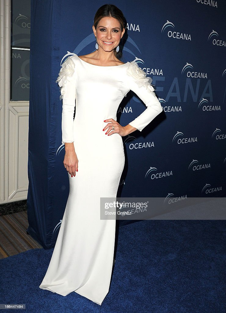 Maria Menounos arrives at the Oceana Partners Award Gala With Former Secretary Of State Hillary Rodham Clinton and HBO CEO Richard Pleple at Regent Beverly Wilshire Hotel on October 30, 2013 in Beverly Hills, California.