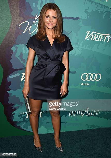 Maria Menounos arrives at the Variety's 2014 Power Of Women Event In LA Presented By Lifetime at the Beverly Wilshire Four Seasons Hotel on October...