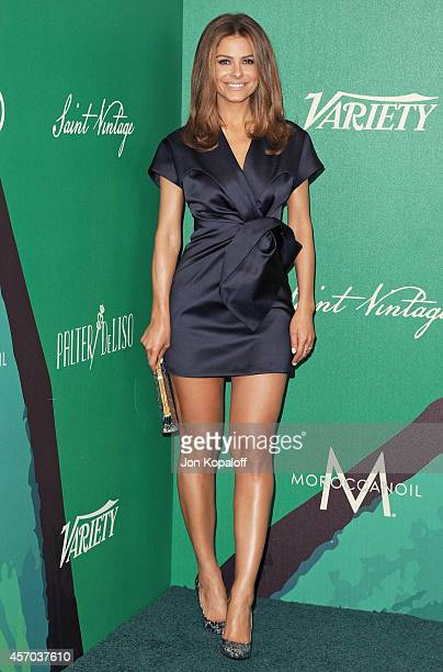 Maria Menounos arrives at Variety's 2014 Power Of Women Event In LA Presented By Lifetime at the Beverly Wilshire Four Seasons Hotel on October 10...