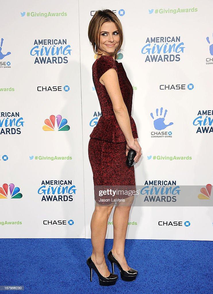 Maria Menounos attends 2012 American Giving Awards at Pasadena Civic Auditorium on December 7, 2012 in Pasadena, California.