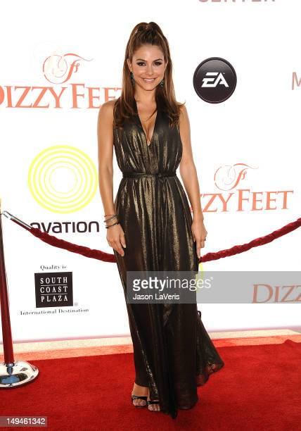Maria Menounos attends Dizzy Feet Foundation's celebration of dance at Dorothy Chandler Pavilion on July 28 2012 in Los Angeles California