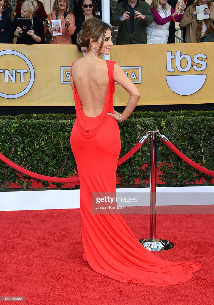 Maria Menounos attends the 19th Annual Screen Actors Guild Awards at The Shrine Auditorium on January 27, 2013 in Los Angeles, California.