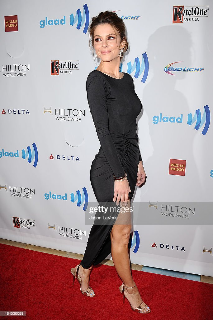 <a gi-track='captionPersonalityLinkClicked' href=/galleries/search?phrase=Maria+Menounos&family=editorial&specificpeople=203337 ng-click='$event.stopPropagation()'>Maria Menounos</a> attends the 25th annual GLAAD Media Awards at The Beverly Hilton Hotel on April 12, 2014 in Beverly Hills, California.